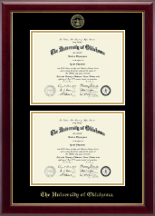 The University of Oklahoma Diploma Frame - Double Document Diploma Frame in Gallery