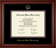 Colorado Mesa University   Diploma Frame - Gold Embossed Diploma Frame in Cambridge