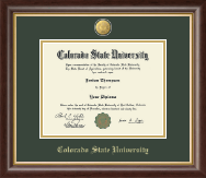 Colorado State University Diploma Frame - 23K Medallion Diploma Frame in Hampshire