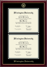 Wilmington University Diploma Frame - Double Document Diploma Frame in Gallery