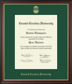 Coastal Carolina University Diploma Frame - Gold Embossed Diploma Frame in Studio Gold