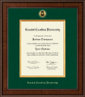 Coastal Carolina University Diploma Frame - Presidential Gold Engraved Diploma Frame in Madison