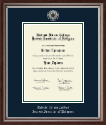 Hebrew Union College Diploma Frame - Silver Engraved Medallion Diploma Frame in Devonshire