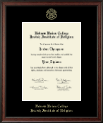Hebrew Union College Diploma Frame - Gold Embossed Diploma Frame in Studio