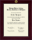 Hebrew Union College Diploma Frame - Century Gold Engraved Diploma Frame in Cordova