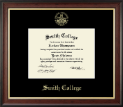Smith College Diploma Frame - Gold Embossed Diploma Frame in Studio Gold