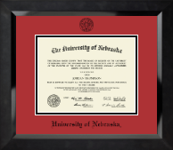 University of Nebraska Diploma Frame - Black Embossed Diploma Frame in Eclipse