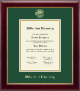 Wilberforce University Diploma Frame - Gold Embossed Diploma Frame in Gallery