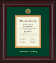 Wilberforce University Diploma Frame - Presidential Gold Engraved Diploma Frame in Premier