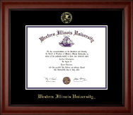 Western Illinois University Diploma Frame - Gold Embossed Diploma Frame in Cambridge