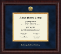 Albany Medical College Diploma Frame - Presidential Gold Engraved Diploma Frame in Premier