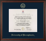 University of Pennsylvania Diploma Frame - Gold Embossed Diploma Frame in Studio