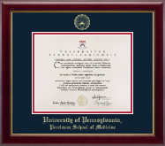 University of Pennsylvania Diploma Frame - Gold Embossed Diploma Frame in Gallery