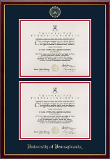 University of Pennsylvania Diploma Frame - Double Diploma Frame in Galleria