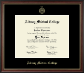 Albany Medical College Diploma Frame - Gold Embossed Diploma Frame in Studio Gold