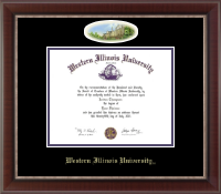 Western Illinois University Diploma Frame - Campus Cameo Diploma Frame in Chateau