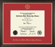 California State University Fresno Diploma Frame - Gold Embossed Diploma Frame in Studio Gold