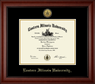 Eastern Illinois University Diploma Frame - Gold Engraved Medallion Diploma Frame in Cambridge