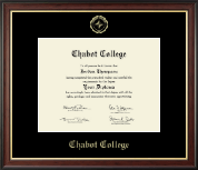 Chabot College Diploma Frame - Gold Embossed Diploma Frame in Studio Gold