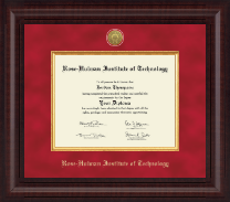 Rose Hulman Institute of Technology Diploma Frame - Presidential Gold Engraved Diploma Frame in Premier