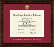 Rose Hulman Institute of Technology Diploma Frame - Gold Engraved Medallion Diploma Frame in Ridgewood