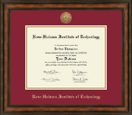 Rose Hulman Institute of Technology Diploma Frame - Gold Engraved Medallion Diploma Frame in Ashford