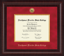 Northwest Florida State College Diploma Frame - Presidential Gold Engraved Diploma Frame in Premier