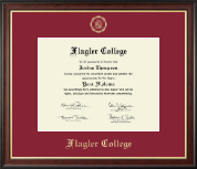 Flagler College Diploma Frame - Gold Embossed Diploma Frame in Studio Gold