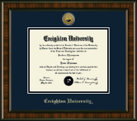 Creighton University Diploma Frame - Gold Engraved Medallion Diploma Frame in Brentwood