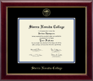 Sierra Nevada College Diploma Frame - Gold Embossed Diploma Frame in Gallery