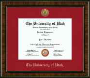 The University of Utah Diploma Frame - Gold Engraved Medallion Diploma Frame in Brentwood