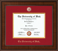 The University of Utah Diploma Frame - Presidential Masterpiece Diploma Frame in Madison