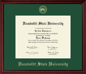 Humboldt State University  Diploma Frame - Gold Embossed Diploma Frame in Camby