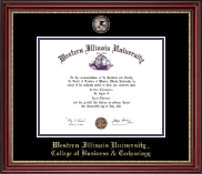 Western Illinois University Diploma Frame - Masterpiece Medallion Diploma Frame in Kensington Gold