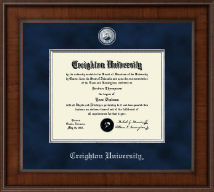 Creighton University Diploma Frame - Presidential Masterpiece Diploma Frame in Madison