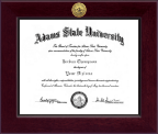Adams State University  Diploma Frame - Century Gold Engraved Diploma Frame in Cordova