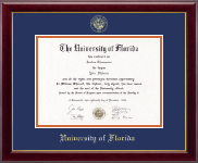 University of Florida Diploma Frame - Gold Embossed Diploma Frame in Gallery
