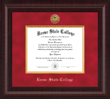 Keene State College Diploma Frame - Presidential Gold Engraved Diploma Frame in Premier