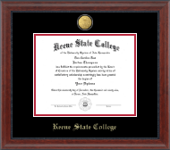 Keene State College Diploma Frame - 23K Medallion Diploma Frame in Signature