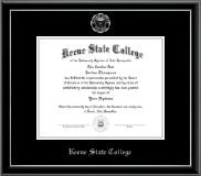 Keene State College Diploma Frame - Silver Embossed Diploma Frame in Onexa Silver