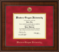 Western Oregon University Diploma Frame - Presidential Gold Engraved Diploma Frame in Madison