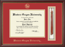 Western Oregon University Diploma Frame - Tassel Edition Diploma Frame in Newport