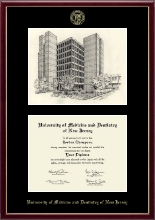 University of Medicine and Dentistry of New Jersey Diploma Frame - Campus Scene Edition Diploma Frame in Galleria
