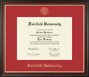Fairfield University Diploma Frame - Gold Embossed Diploma Frame in Studio Gold
