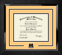 University of Wisconsin-Milwaukee Diploma Frame - Spirit Medallion Diploma Frame in Eclipse