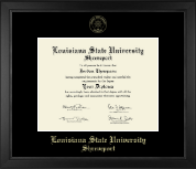 Louisiana State University at Shreveport Diploma Frame - Gold Embossed Diploma Frame in Arena