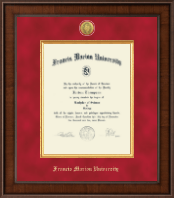 Francis Marion University Diploma Frame - Presidential Gold Engraved Diploma Frame in Madison