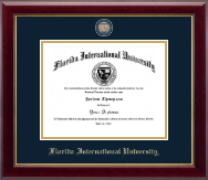 Florida International University Diploma Frame - Masterpiece Medallion Diploma Frame in Gallery
