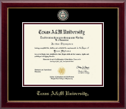 Texas A&M University Diploma Frame - Brass Masterpiece Medallion Diploma Frame in Gallery