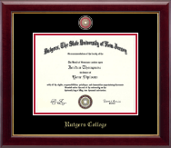 Rutgers University Diploma Frame - Masterpiece Medallion Diploma Frame in Gallery
